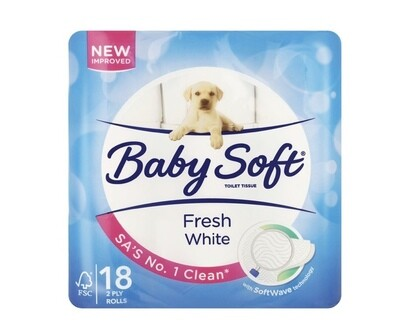 BABY SOFT 2PLT TOILET TISSUE (18rolls)
