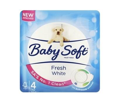 BABY SOFT 2PLT TOILET TISSUE (4 rolls)