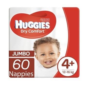 HUGGIES DRY COMFORT NEW BABY  SIZE 4+ (60)