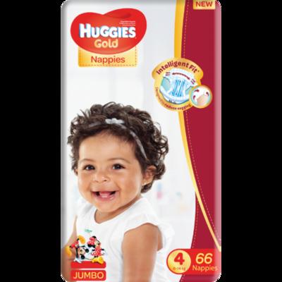 HUGGIES GOLD UNISEX JUMBO  SIZE 2, 4, 4+