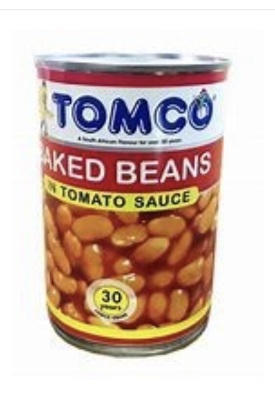 TOMCO BAKED BEANS IN TOMATO SAUCE 410G