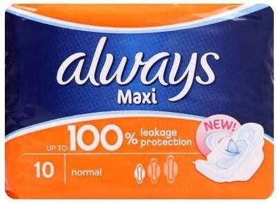 ALWAYS MAXI PADS 10s