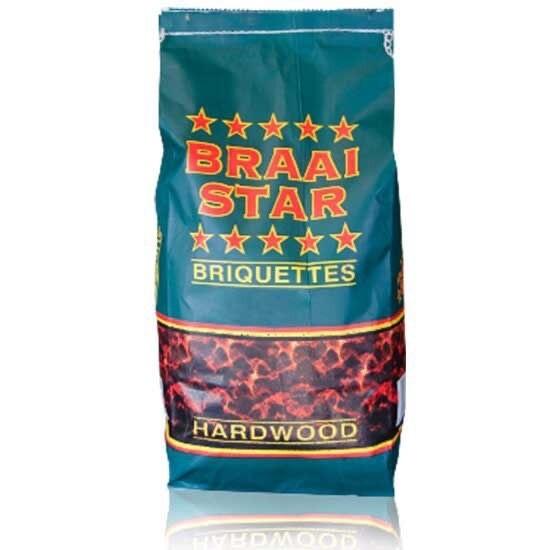 BRAAI STAR BRIQUETTES 4KG