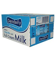 DENDAIRY FULL CREAM MILK 500ML X12