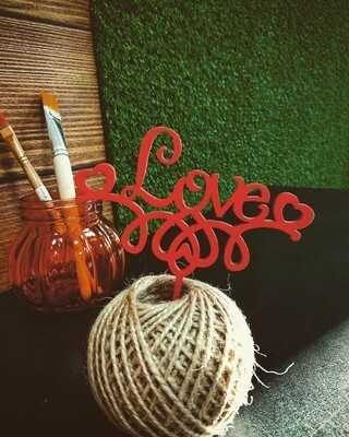 Love /красные узоры
