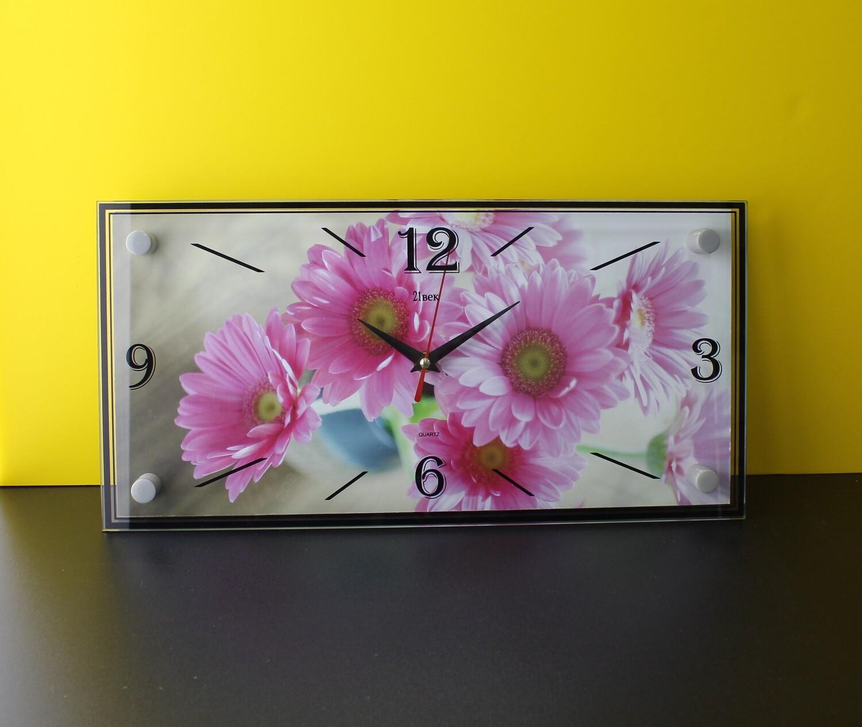 """Настенные часы """"Цветы"""" 19х39"""
