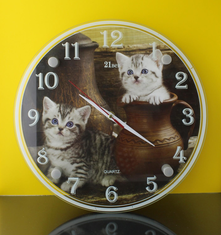 """Настенные часы """"Котята"""" D30"""