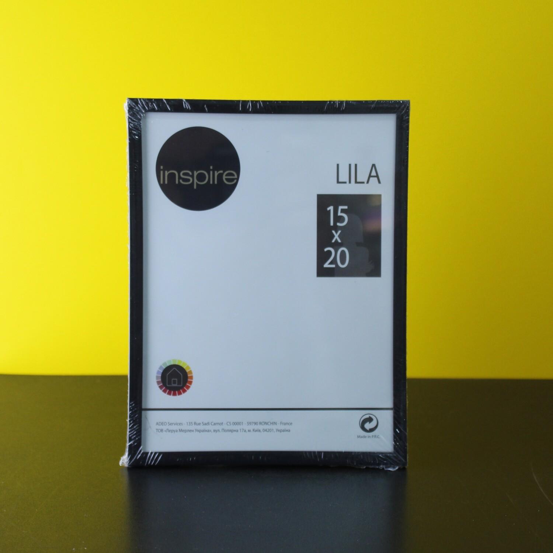 Фоторамка пластик черная 15х20