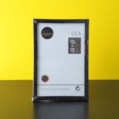 Фоторамка пластик черная 10х15