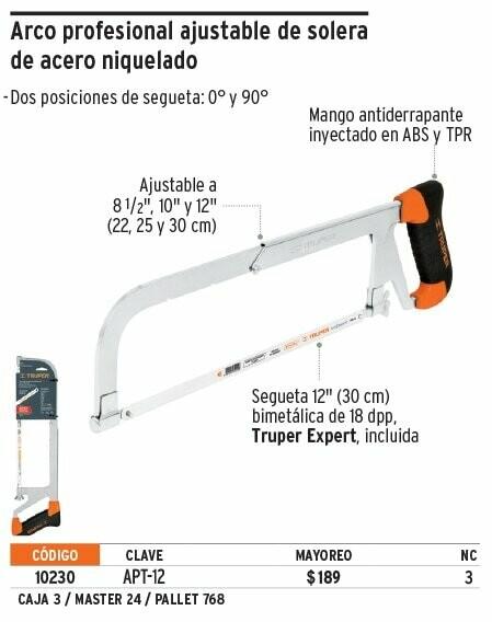 Arco profesional ajustable de solera de acero niquelado