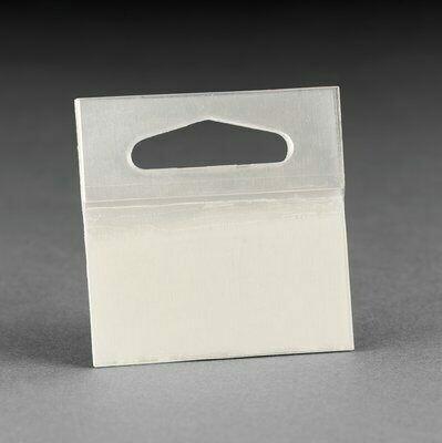 3M® Etiqueta con Gancho 1075 Clear, 2 in x 2 in, 10 etiquetas por almohadilla 50 almohadillas por cartón 10 cartones por caja. Hang Tab