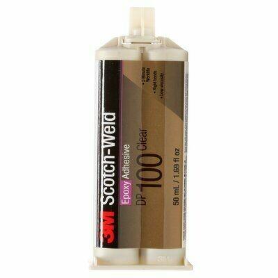 3M® Scotch-Weld® Adhesivo Epóxico DP100 Transparente, 50 ml, 12 por caja