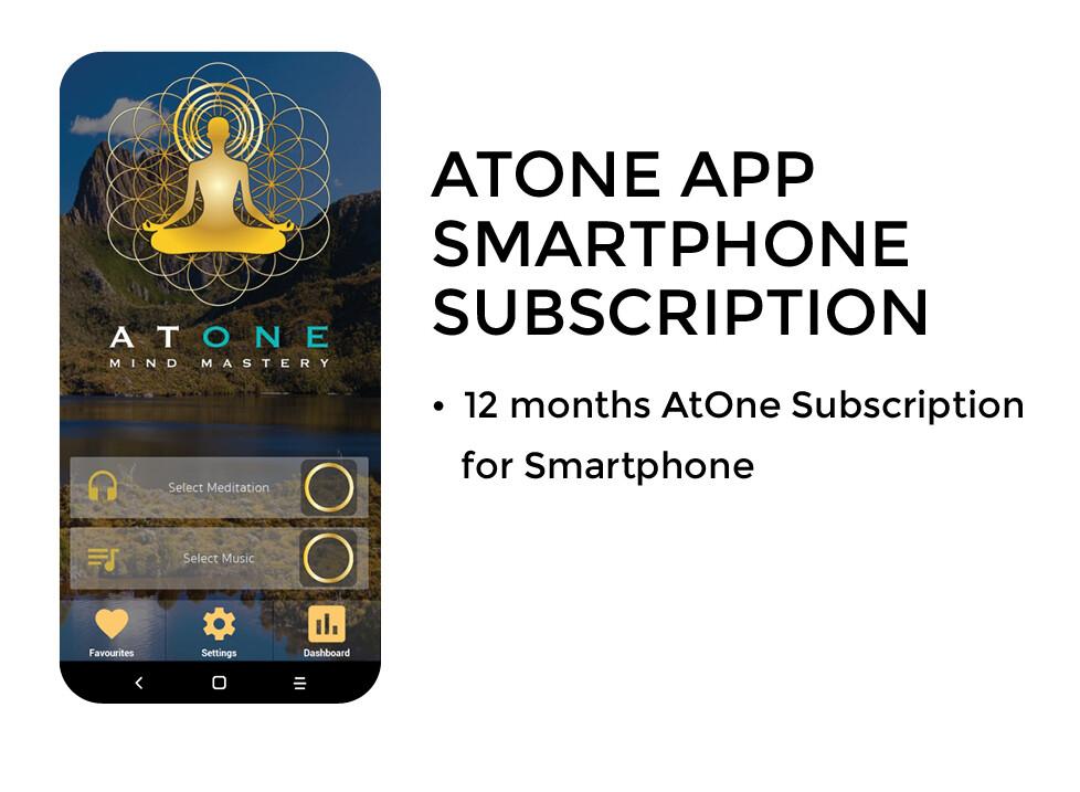 ATONE APP SMARTPHONE SUBSCRIPTION