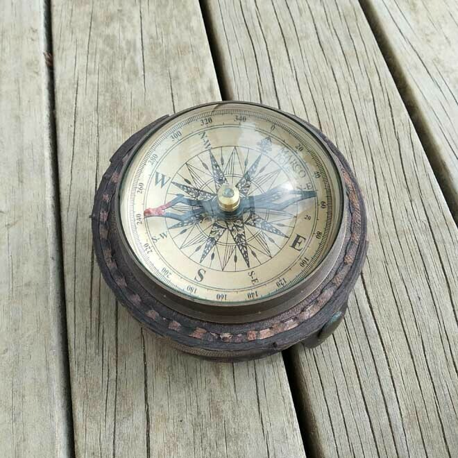 Marco Polo Compass - Leather Case