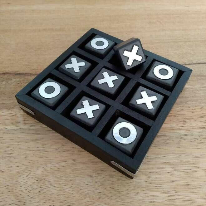 Naughts & Crosses - Black Wood