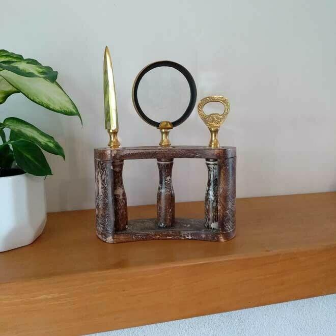 Brass Letter Opening Set
