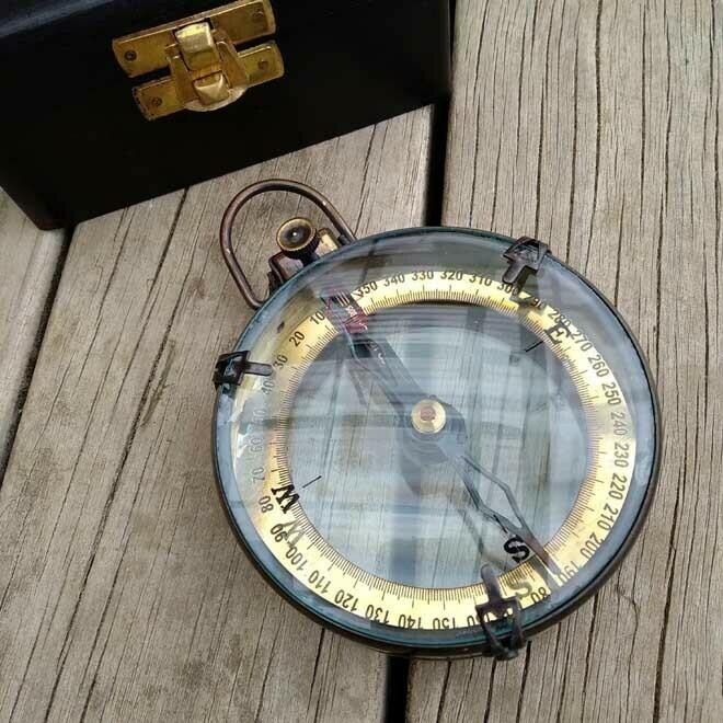 Captain's Compass - Black Wood