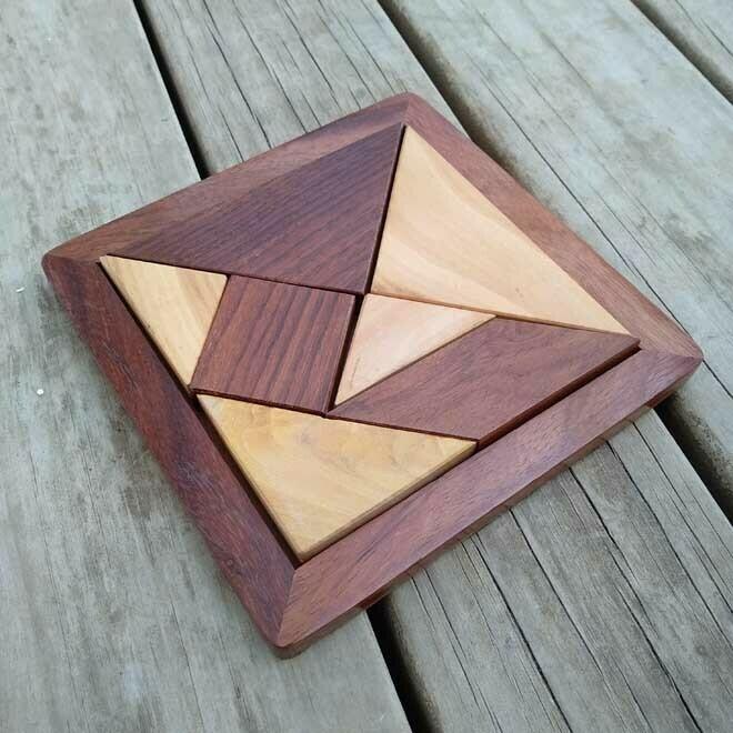 Geometric Wooden Puzzle