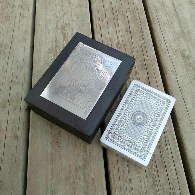 Playing Card Box - Black Wood