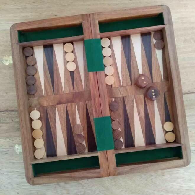 Chess, Checkers & Backgammon Set