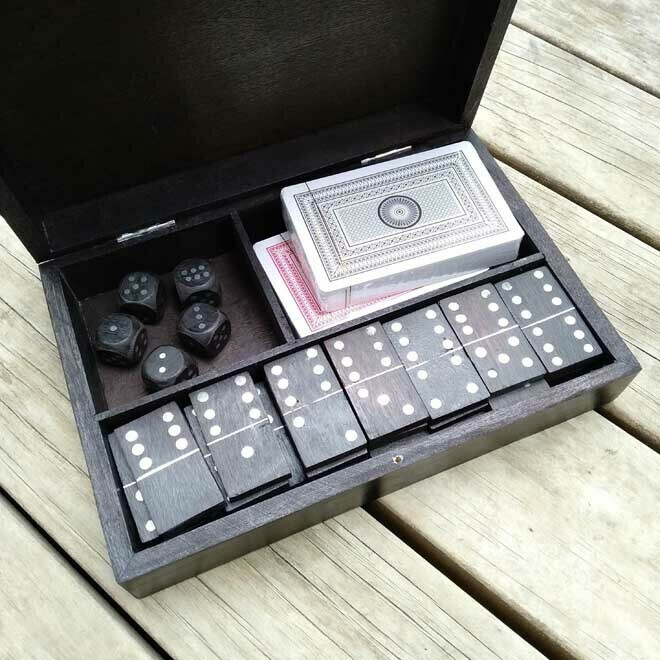 Games Set - Black Wood