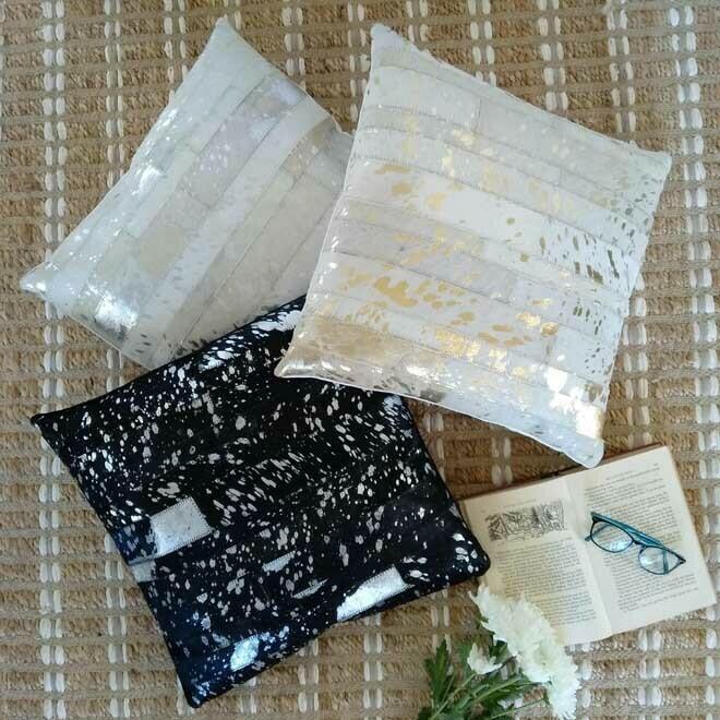 Hide Strip Cushion - Square