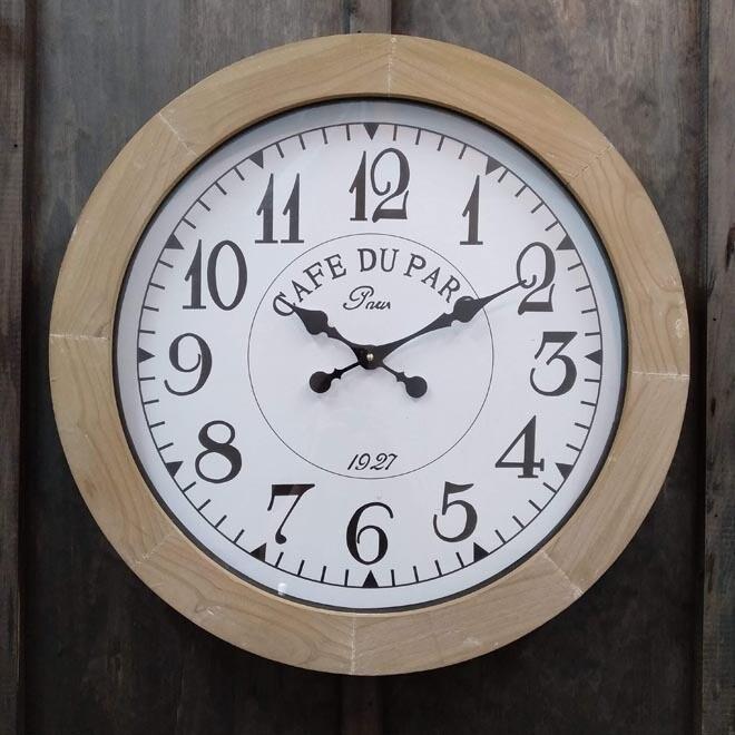 Cafe Du Parc Clock Rnd