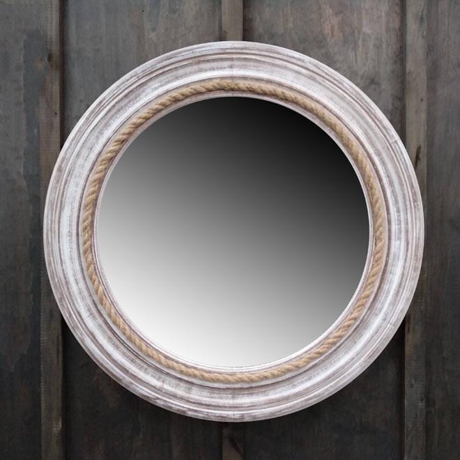 Timber/Rope Mirror Rnd