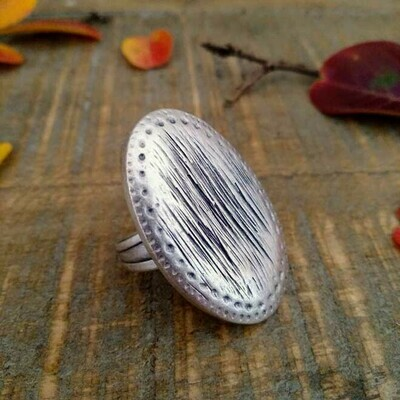 Oval Pinprick Ring
