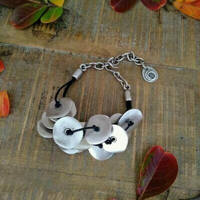 Knotted Disc Bracelet