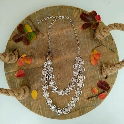 Double Layer Disc Necklace