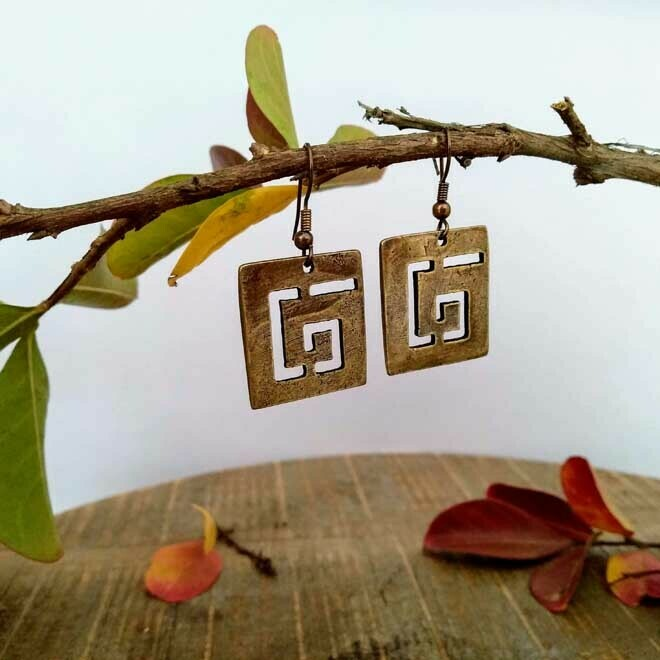 Square Spiral Earings