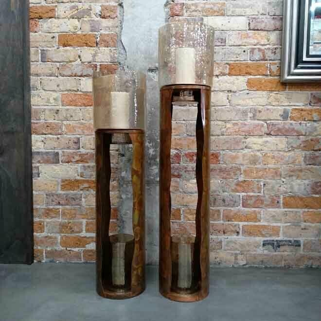 Freestanding Copper Candle Holder - Small