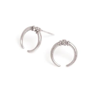 Horn Urban Safari Earrings - Silver