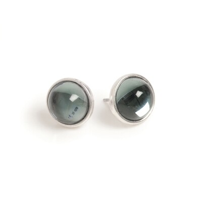 Blue Planet Earrings - Silver