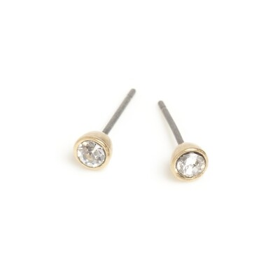 Small Crystal Earring - Bronze