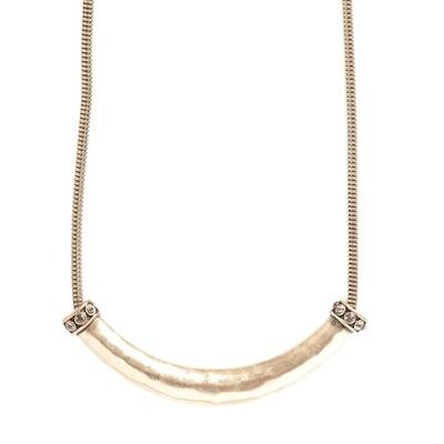 Tribal Tube Necklace - Bronze
