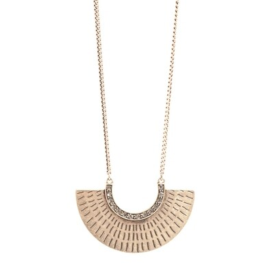 Tribal Half Circle Necklace - Bronze