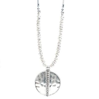 Tribal Circle Pendant - Silver