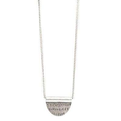 Tribal Half Pendant - Silver