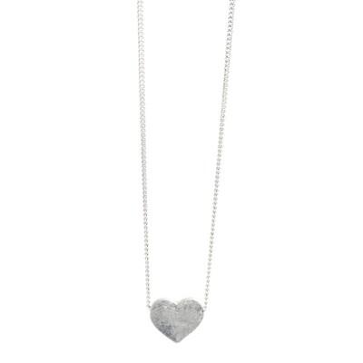 Plain Heart Pendant - Silver