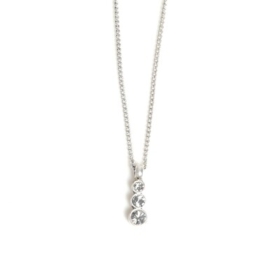 Triple Crystal Pendant - Silver