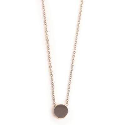 Small Circle Pendant - Steel Gold