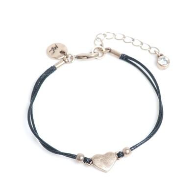 Plain Heart Bracelet - Bronze