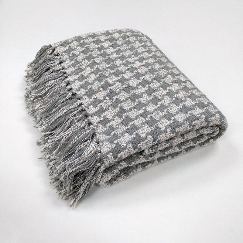 Cotton Throw - Grey