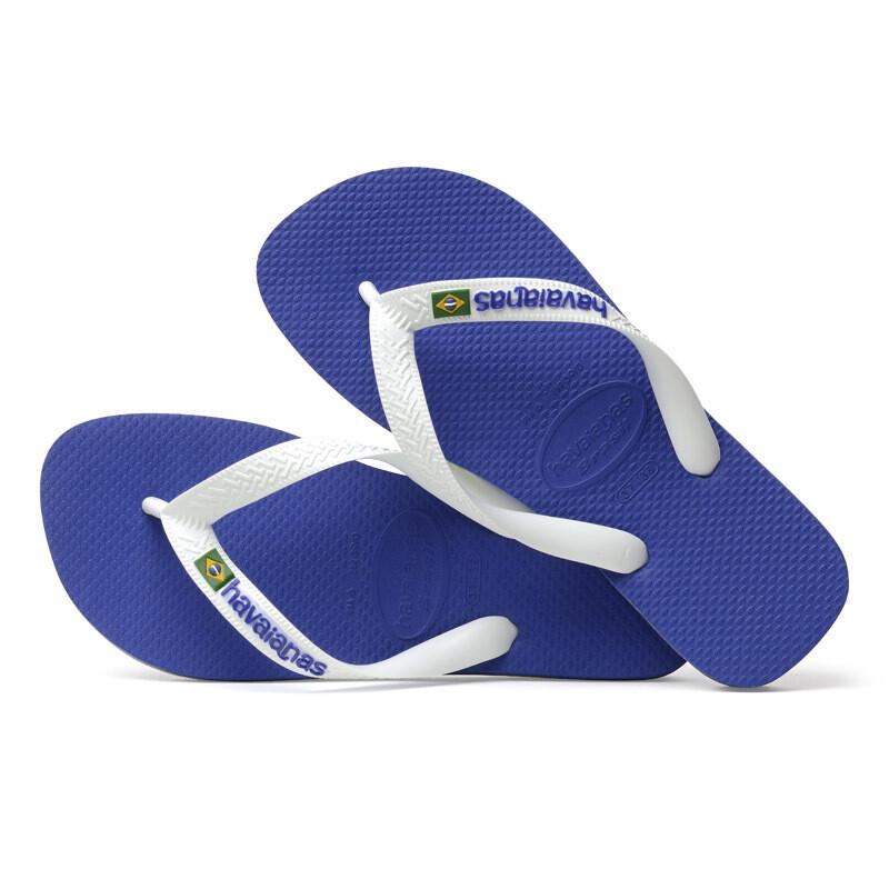 Brazil Logo Flip Flops - Marine Blue