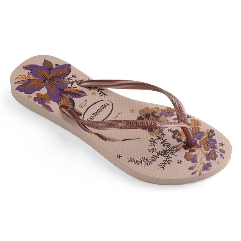 Slim Organic Flip Flops - Ballet Rose
