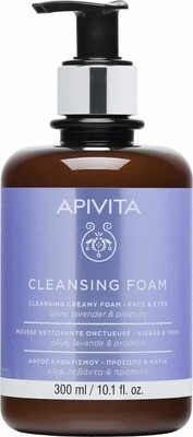 APIVITA CLEASING FOAM FACE EYES 300ML