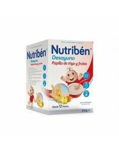 NUTRIBEN DESAYUNO PAPILLA DE TRIGO CON FRUTA 900 G