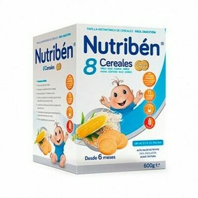 NUTRIBEN 8 CEREALES Y MIEL GALLETAS MARIA 600 G